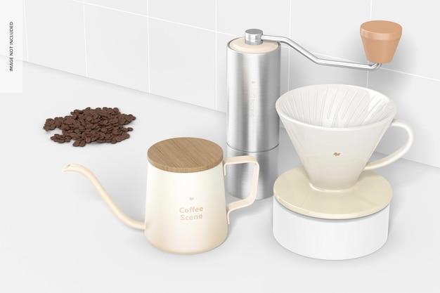 Mockup voor koffiescènes