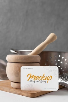 Mockup voor kookartikelen arrangement