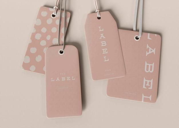 Mockup voor labellabels