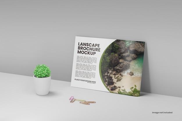 Mockup voor landschapsbrochure