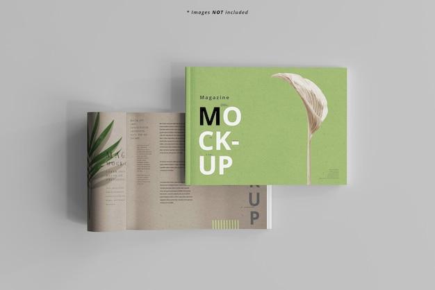 Mockup voor landschapsmagazine