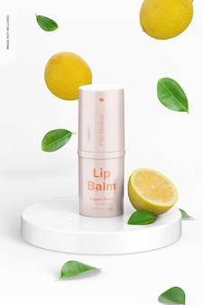 Mockup voor lippenbalsem van 0,35 oz