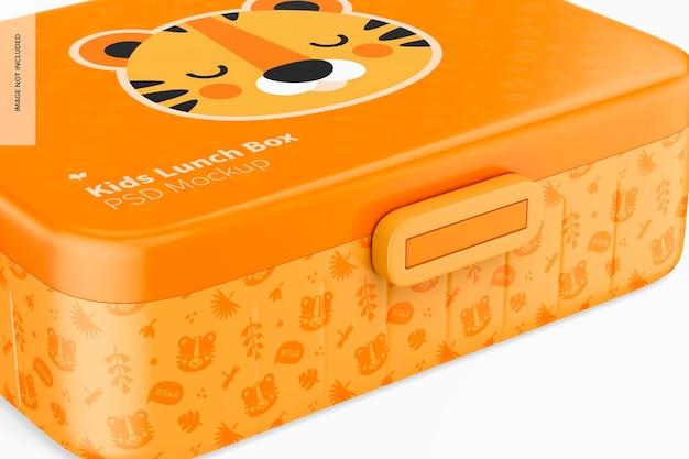 Mockup voor lunchbox voor kinderen, close-up