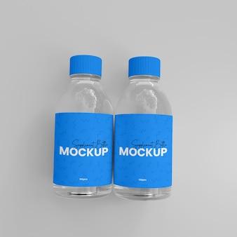 Mockup voor medicijnfles met 3d-glassupplement