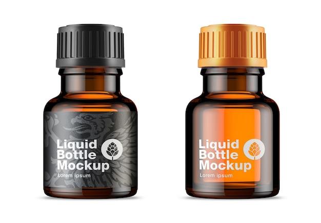 Mockup voor medicijnfles van amberkleurig glas