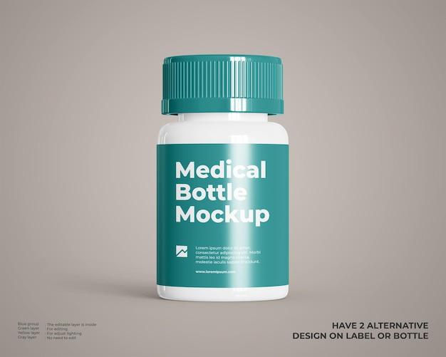 Mockup voor medische plastic flessen
