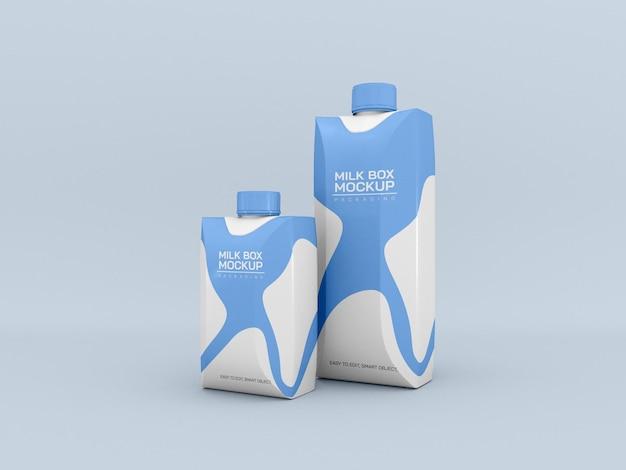 Mockup voor melkverpakking