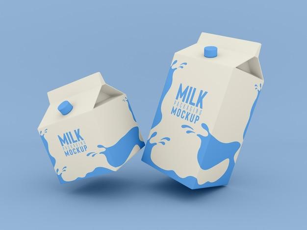 Mockup voor melkverpakkingen