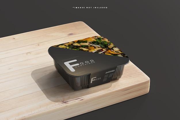 Mockup voor middelgrote voedselcontainers