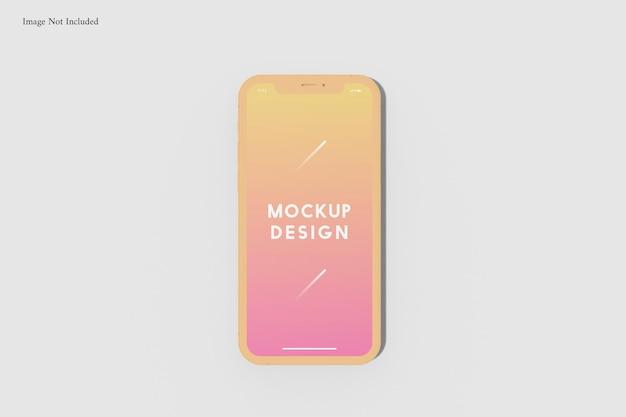 Mockup voor mobiele telefoon
