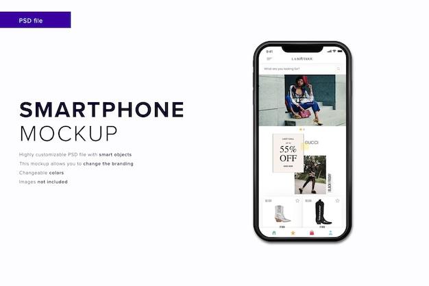 Mockup voor mobiele telefoons met bewerkbaar ontwerp en veranderlijke kleuren