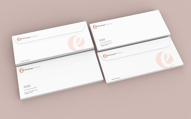 Mockup voor papieren enveloppen