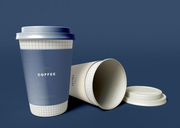 Mockup voor papieren koffiekopjes meenemen