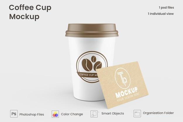 Mockup voor papieren koffiekopjes premium psd