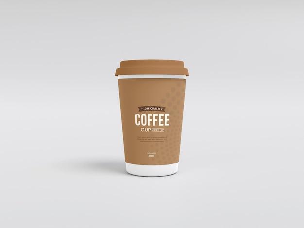Mockup voor papieren koffiekopjes weghalen
