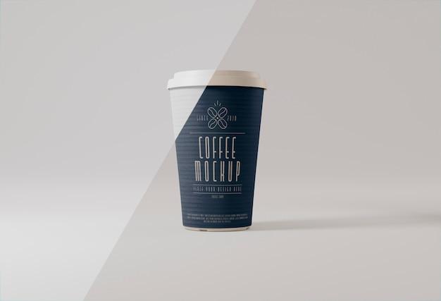 Mockup voor papieren koffiekopjes