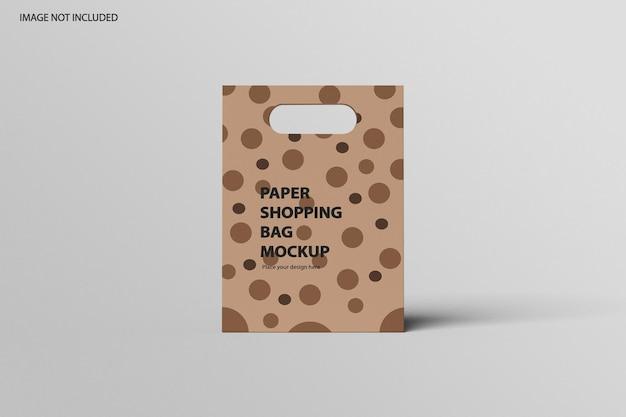 Mockup voor papieren zak