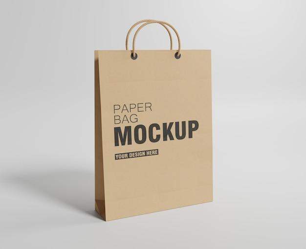 Mockup voor papieren zakken