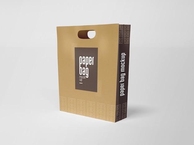 Mockup voor papieren zakverpakking