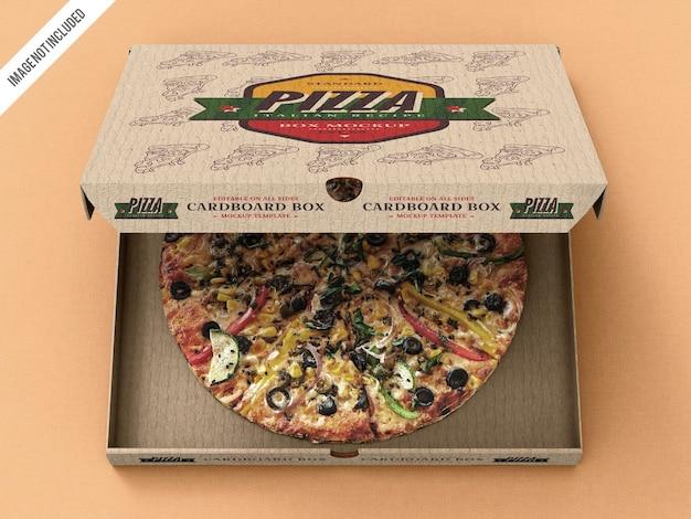 Mockup voor pizzabezorgdoos