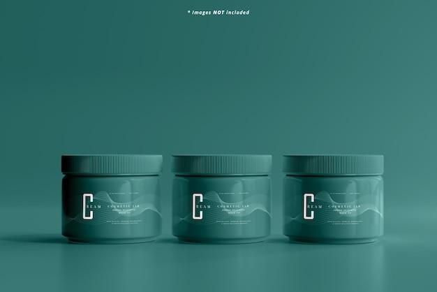 Mockup voor plastic cosmetische pot