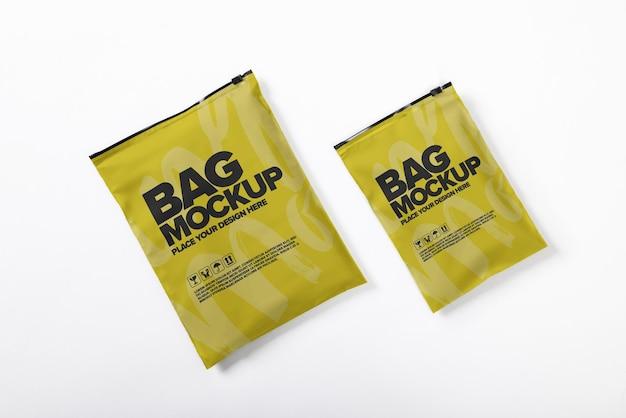 Mockup voor plastic envelopverpakking