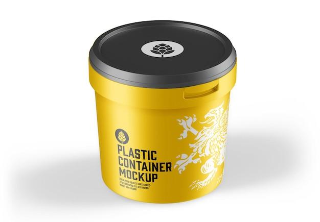 Mockup voor plastic verfemmer
