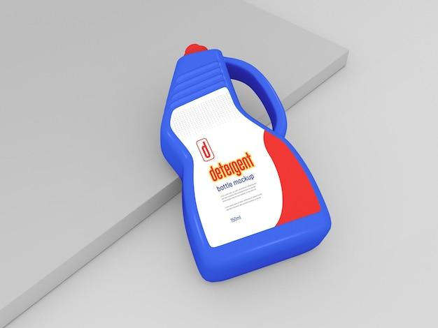 Mockup voor plastic wasmiddelfles