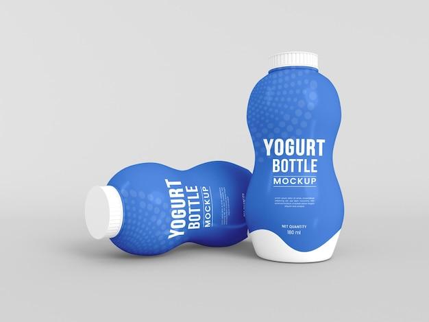 Mockup voor plastic yoghurtfles