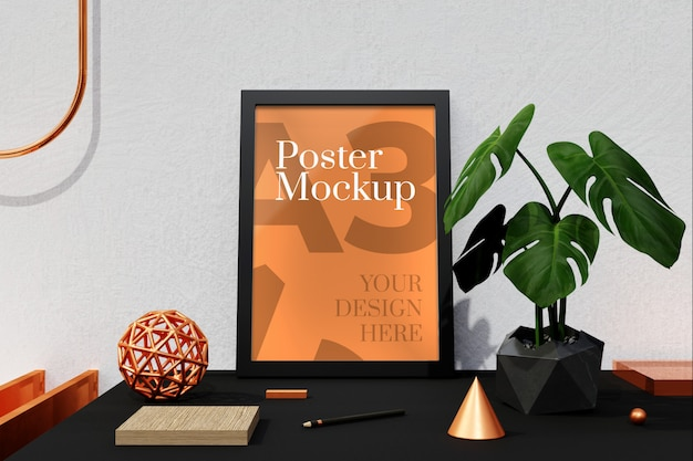 Mockup voor poster a3 en fotolijsten