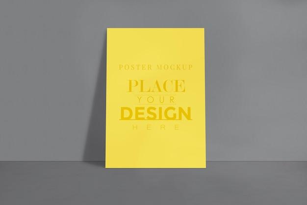 Mockup voor posterontwerp voor de afbeeldingengalerij, tentoonstelling en presentatieontwerp