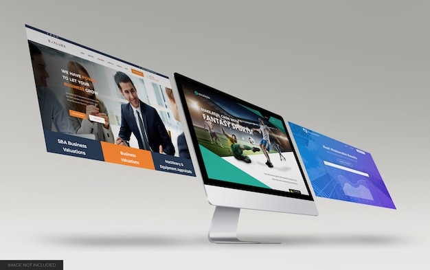 Mockup voor presentatie van desktopwebsites