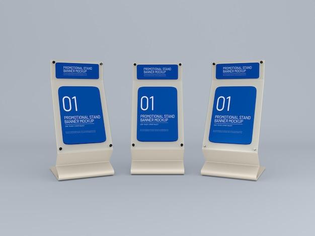 Mockup voor promotionele evenement glazen standaard