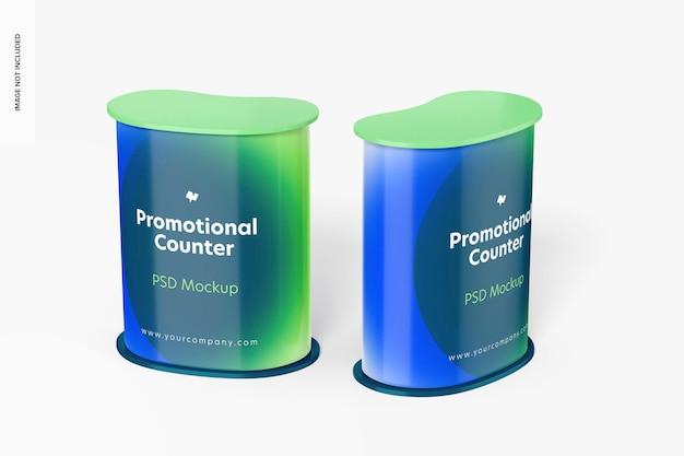 Mockup voor promotionele tellers