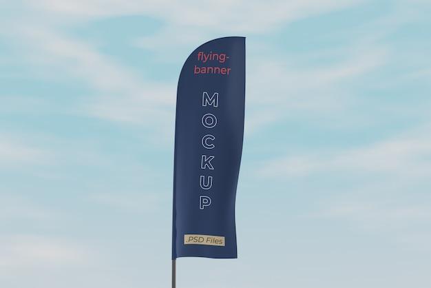 Mockup voor promotionele vlaggen
