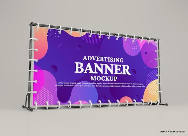 Mockup voor reclamemuurbanner