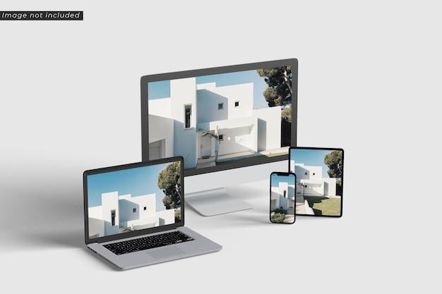Mockup voor responsief schermapparaat