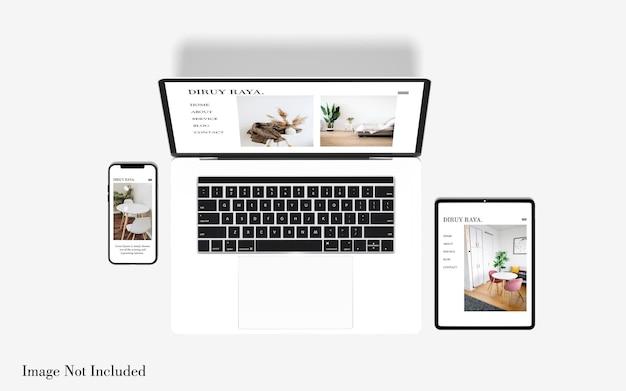 Mockup voor responsieve websites voor meerdere apparaten