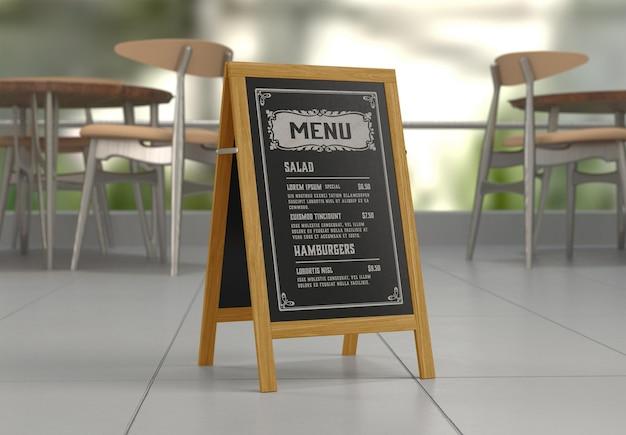 Mockup voor restaurantmenubord
