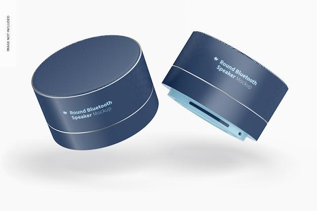 Mockup voor ronde bluetooth-luidsprekers