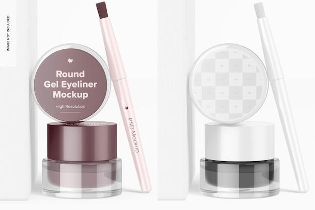 Mockup voor ronde gel-eyeliners