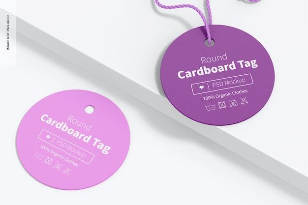 Mockup voor ronde kartonnen labels