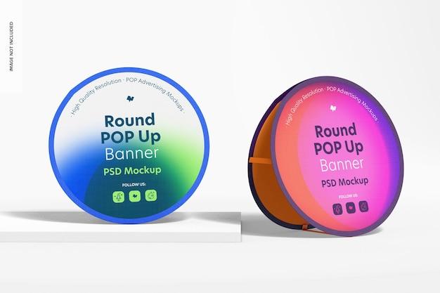 Mockup voor ronde pop-upbanners