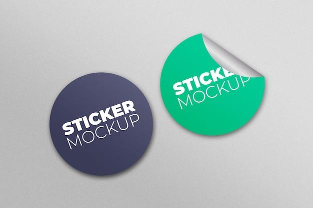 Mockup voor ronde sticker