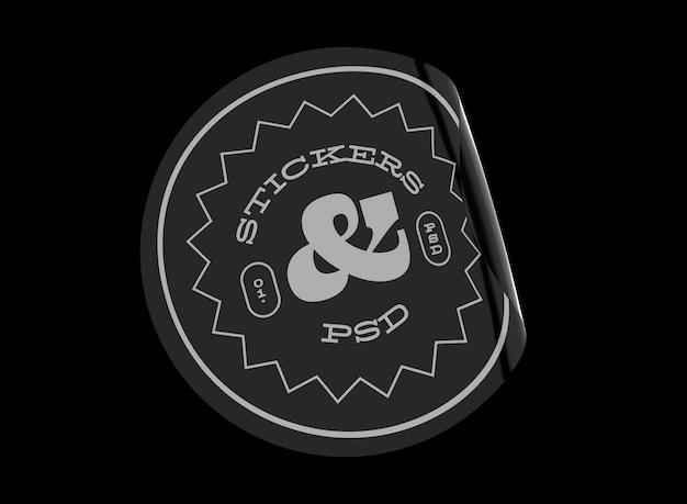 Mockup voor ronde stickers