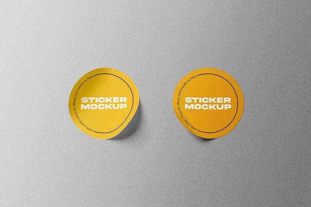 Mockup voor ronde stickerset Premium Psd