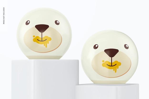 Mockup voor ronde tafellampen voor kinderen
