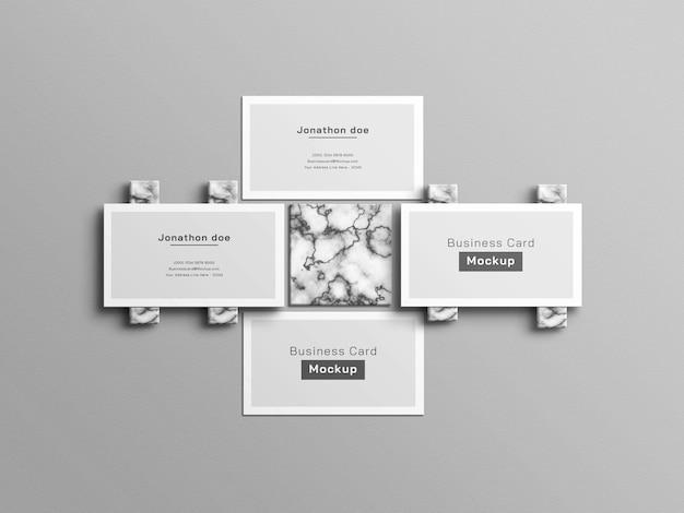 Mockup voor schoon wit visitekaartje