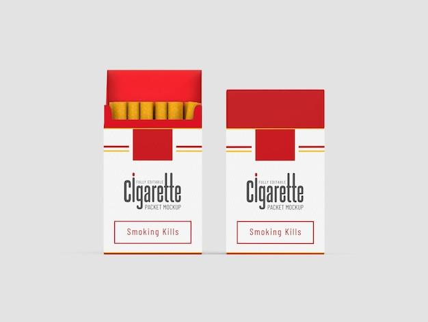 Mockup voor sigarettenpakketten