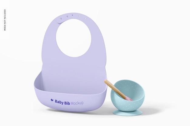 Mockup voor siliconen babyslabbetje, vooraanzicht